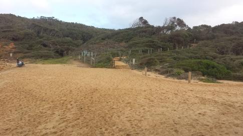A tiny bit of beach running as you exit Bells Beach